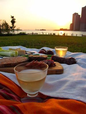 Brooklyn Bridge Park picnic on the lawn